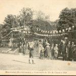 La fête du village en 1920. Concours de tir.