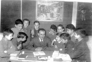 Classe de M. Gaston en 1957