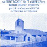 Inauguration de l'église en 1976