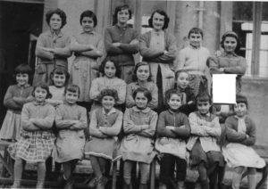 La classe des filles en 1957-1958